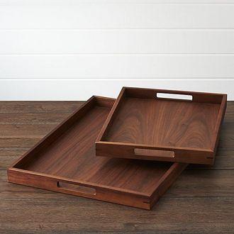pengrajin nampan kayu jati kotak custom