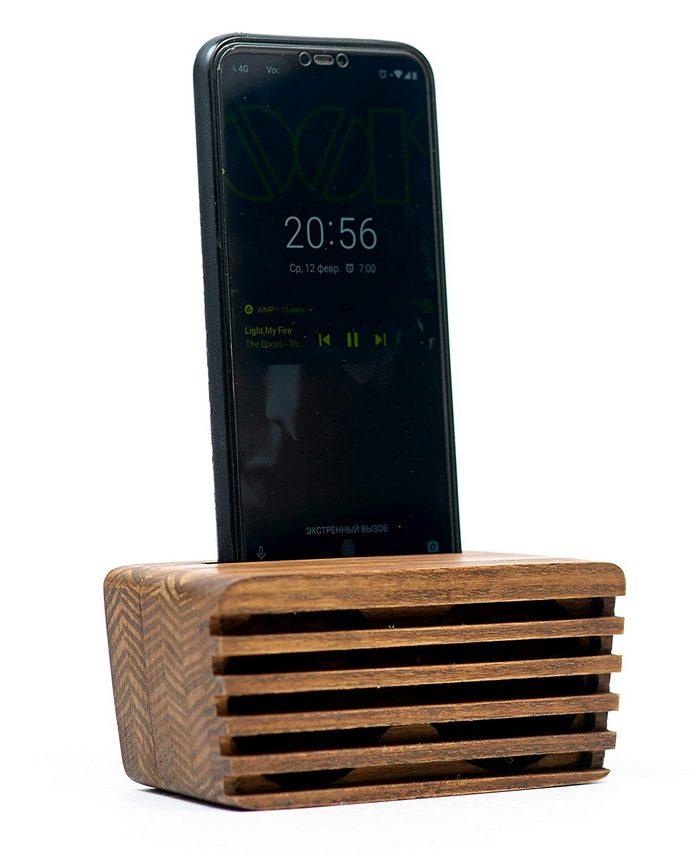 phone holder kayu - 1
