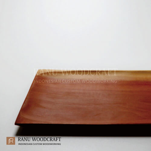 piring kayu kotak persegi panjang -1