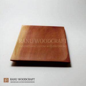 piring kayu kotak persegi panjang -2
