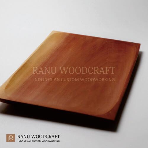 piring kayu kotak persegi panjang -3
