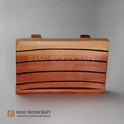 tempat sabun kayu model a 3