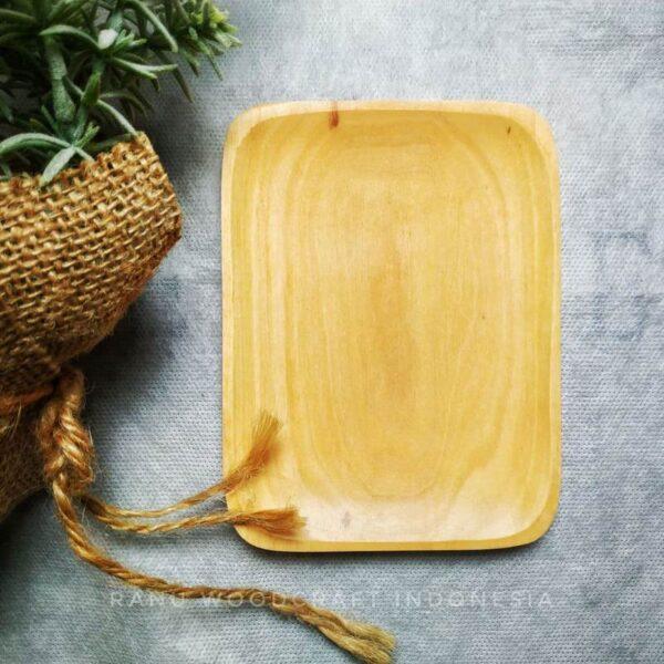 Lepek sambal kayu kotak persegi panjang