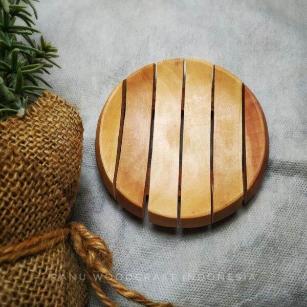 jual tempat sabun kayu bulat 1
